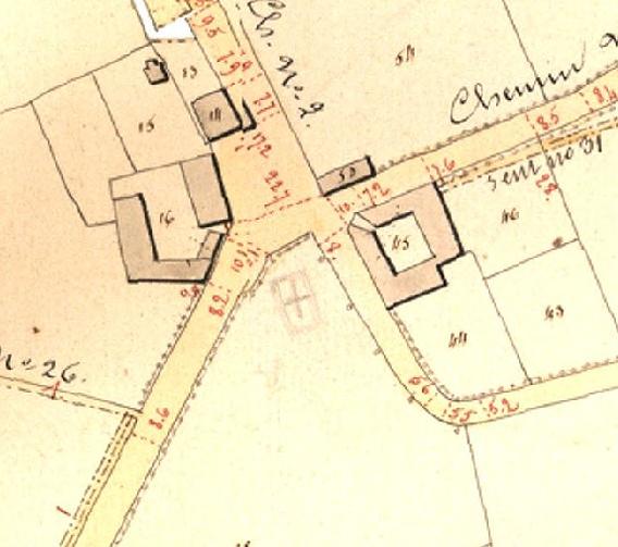 Binderveld plan Buurtwegen 1841