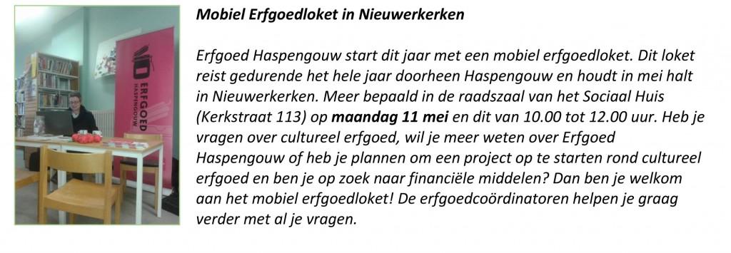 Mobiel Erfgoedloket in Nieuwerkerken